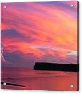 Colorful Sky -tumon Bay Guam Acrylic Print