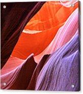 Colorful Slot Canyon Acrylic Print