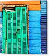 Colorful Slum Acrylic Print