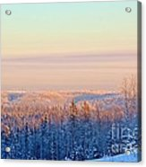 Colorful Snow Valley Acrylic Print