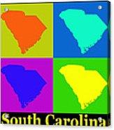Colorful South Carolina Pop Art Map Acrylic Print