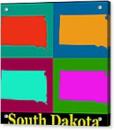 Colorful South Dakota Pop Art Map Acrylic Print