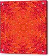 Colorful Sun Mandala Acrylic Print