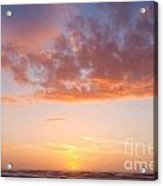 Colorful Sunset Cloudscape Over Beach And Ocean Acrylic Print