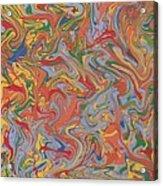 Colorful Swirls Drip Painting Acrylic Print