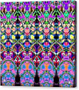 Colorful Symmetrical Abstract Acrylic Print