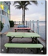 Colorful Tables Acrylic Print