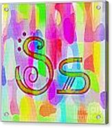 Colorful Texturized Alphabet Ss Acrylic Print