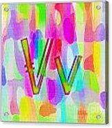 Colorful Texturized Alphabet Vv Acrylic Print