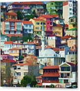 Colorful Town Acrylic Print