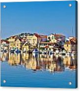 Colorful Town Of Tribunj Waterfront Acrylic Print