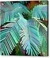 Colorful Tropical Leaves In The Jungle Acrylic Print