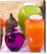 Colorful Vases I - Still Life Acrylic Print