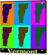 Colorful Vermont Pop Art Map Acrylic Print