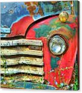 Colorful Vintage Truck Acrylic Print