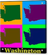 Colorful Washington State Pop Art Map Acrylic Print