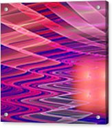 Colorful Waves Abstract Fractal Art Acrylic Print