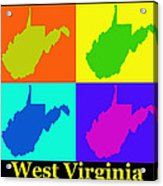 Colorful West Virginia Pop Art Map Acrylic Print