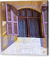 Colorful Window Shutters Acrylic Print
