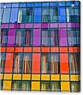 Colorful Windows On Modern Apartment Block Acrylic Print