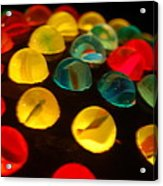 Colorfull Marbles Acrylic Print