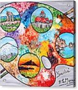 Colori Di Sicilia Acrylic Print