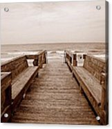 Colorless Seascape Acrylic Print