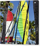 Key West Sail Colors Acrylic Print