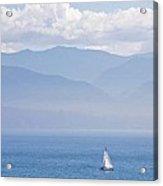 Colors Of Alaska - Sailboat And Blue Acrylic Print