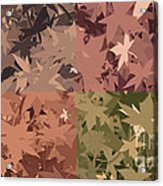 Colors Of Fall Leaves Abstract Acrylic Print