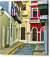 Colors Of Old San Juan Puerto Rico Acrylic Print
