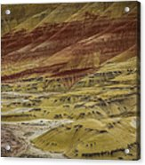 Colors Of Painted Hills Acrylic Print