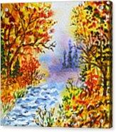 Colors Of Russia Autumn  Acrylic Print by Irina Sztukowski