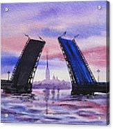 Colors Of Russia Bridges Of Saint Petersburg Acrylic Print
