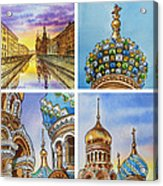 Colors Of Russia Church Of Our Savior On The Spilled Blood  Acrylic Print