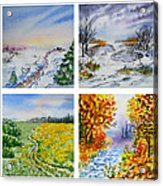 Colors Of Russia Four Seasons Acrylic Print