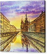 Colors Of Russia St Petersburg Cathedral I Acrylic Print by Irina Sztukowski