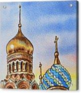 Colors Of Russia St Petersburg Cathedral Iv Acrylic Print by Irina Sztukowski