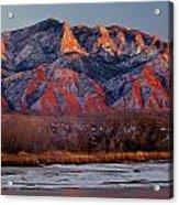 214501-colors Of Sandia Crest  Acrylic Print