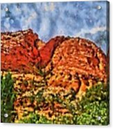 Colors Of Zion Acrylic Print