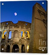 Colosseum And The Moon Acrylic Print