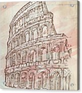 Colosseum Hand Draw Acrylic Print