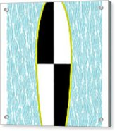 Colour Block Surfboard Acrylic Print