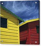 Coloured Beach Huts Acrylic Print