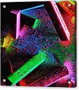 Coloured Chalks  Acrylic Print
