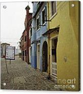 Coloured Houses In Burano Acrylic Print
