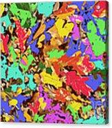 Coloured Oak Leaves By M.l.d. Moerings 2009 Acrylic Print