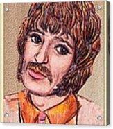 Coloured Pencil Portrait Acrylic Print