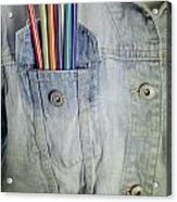 Coloured Pencils Acrylic Print
