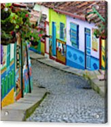 colourful architecture in Guatape Acrylic Print